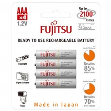 Fujitsu Аккумулятор Ready to use ААА 750 mАh блистер 4 шт