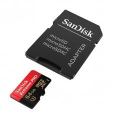 SanDisk Карта памяти microSD eXtremePro 95MB/s 64GB + SD Adapter