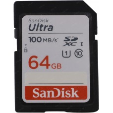 SanDisk Карта памяти SD Ultra 100MB/s 64GB