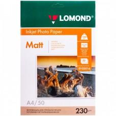 Lomond матовая A4 230г/м2 50л